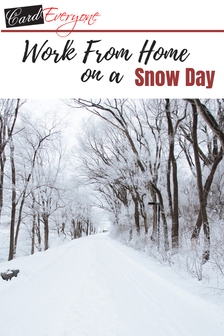 Work From Home on a Snow Day #snowday #workday #smallbusiness