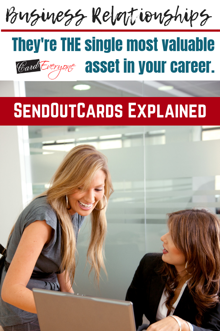Business Relationships - They're THE single most valuable asset in your career. #sendoutcards #business #relationdhips #relationshipbuilding #entrepreneur